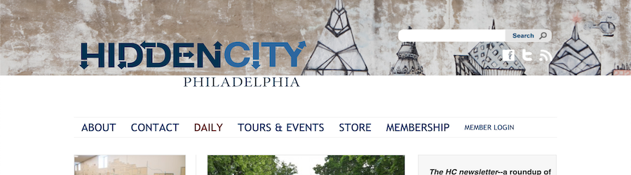 Hidden City, Philadelphia, website