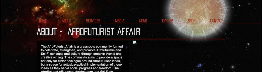 THE AFROFUTURIST AFFAIR, website